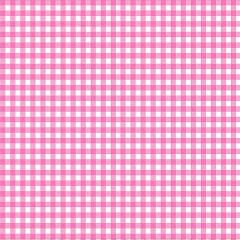 Tecido Tricoline Xadrez Rosa - Preço de 45 cm x 150 cm