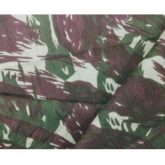Tecido Tricoline Camuflado Verde - Preço de 50 cm X 150 cm