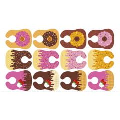 Tecido Digital Babadores Meia Tigela de Docinhos - Preço de 76cm x 1m e 46cm