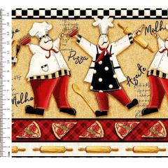 Tecido Digital de Barrados Faixas dos Chefs - Preço de 50 cm X 150 cm