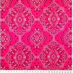Tecido Tricoline Bandana Pink