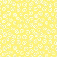 Tecido Tricoline Caracol Amarelo - Preço de 50 cm x 150 cm