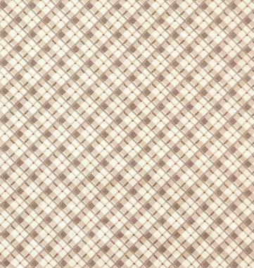 Tecido Tricoline com Estampa Xadrez - Tons de Bege - Preço de 50 cm X 150 cm