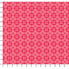 Tecido Tricoline Cruz e Estrela - Fundo Rosa Médio - Preço de 50 cm x 150 cm