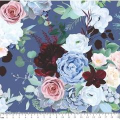 Tecido Tricoline Digital Chedar - Floral