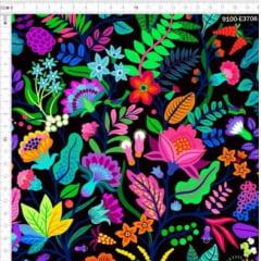 Tecido Tricoline Digital Floral Eva