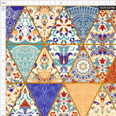 Tecido Tricoline Digital Geométrico Otomano - Preço de 50 cm x 150 cm