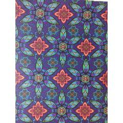 Tecido Tricoline Digital Mandala - Preço de 50cm x 150cm