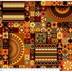 Tecido Tricoline Digital Mini Mandalas Multi Color - Preço de 50 cm x 150 cm