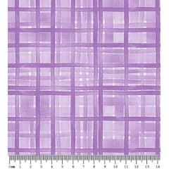 Tecido Tricoline Digital Xadrez Lilás - Coleção Viva La Vida Happy - Preço de 50 cm x 150 cm