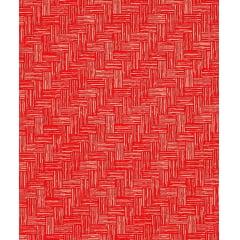 Tecido Tricoline Estampa Riscadinho Vermelho - Preço de 50 cm X 150 cm