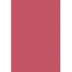 Tecido Tricoline Estampa Micro Poá Branco - Fundo Rosa Marsala