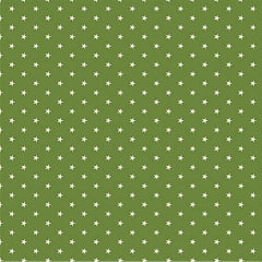 Tecido Tricoline  Estampa Mini Estrela Branca - Fundo Verde Arruda