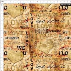 Tecido Tricoline Digital Juras de Amor