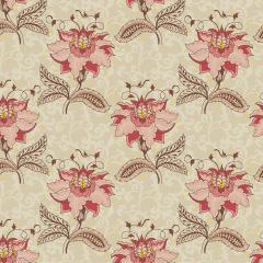 Tecido Tricoline Floral Arabesque Jacobean - Fundo Creme