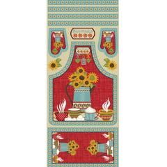 Tecido Tricoline Kit de Cozinha - Coleção Girassol - Preço de 58 cm x 150 cm