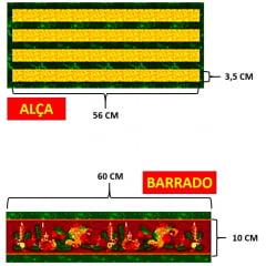 Tecido Tricoline Kit de Cozinha - Feliz Natal - Preço de 60 cm x 150 cm