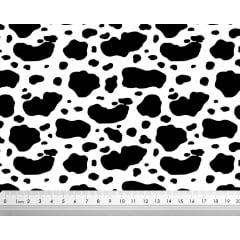 Tecido Tricoline Mancha de Vaca - Fundo Branco  - Preço de 50 cm x 150 cm