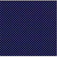 Tecido Tricoline Micro Poá Branco com Fundo Azul Marinho