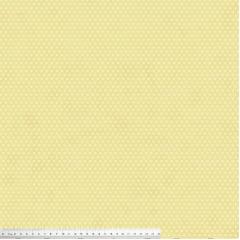 Tecido Tricoline Mini Corações - Fundo Poeira Creme - Preço de 50cm x 150cm