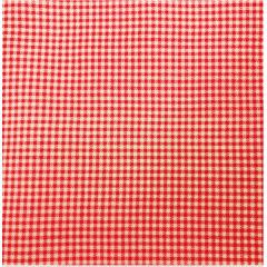 Tecido Tricoline  Mini Xadrez Vermelho e Branco - Preço de 50 cm X 150 cm