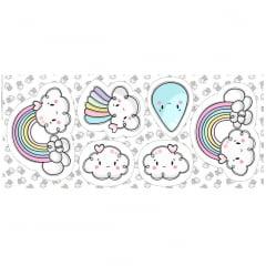 Tecido Tricoline - Pillows - Rainbow - 60 cm x 150 cm