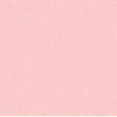 Tecido Tricoline Poá Branco Pequeno - Fundo Rosa