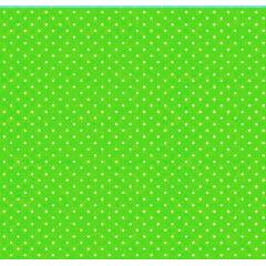 Tecido Tricoline Poá Branco Pequeno - Fundo Verde Grama - Preço de 50 cm X 150 cm