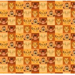 Tecido Tricoline Rei Leão - Disney - Preço de 45 cm x 150 cm