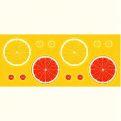 Tecido Tricoline - Sousplat - Laranjas - 60 cm x 150 cm