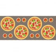 Tecido Tricoline - Sousplat - Pizza - 60 cm x 150 cm