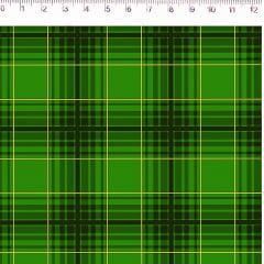 Tecido Tricoline Xadrez Médio Verde