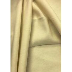 Tecido Flanela Lisa Creme - Largura de 80cm