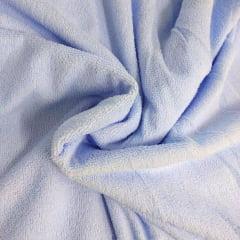 Tecido Felpudo ou Atoalhado Mágico Azul Claro