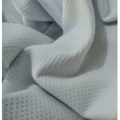 Tecido Piquet Pequeno Favinho Branco - 100 % Algodão