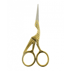 Tesoura Pássaro Dourada para Bordado 4,5 cm