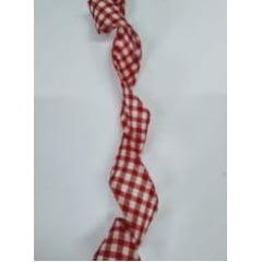 Viés Largo Xadrez Vermelho Grande com Fundo Branco - Cor 216 - Pacote com 5 metros